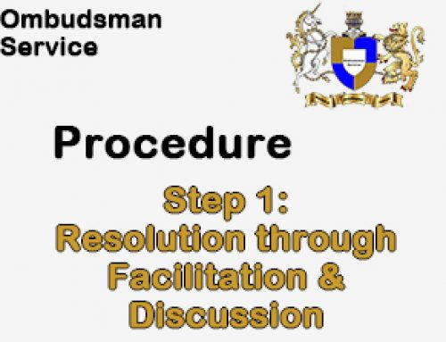 Step 1: Resolution through Facilitation and Discussion