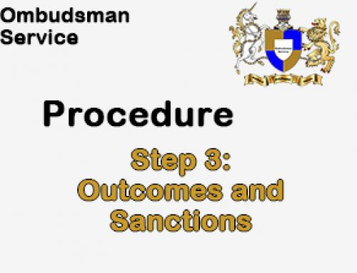 Step 3: Outcomes and Sanctions