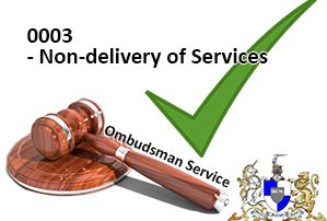 Non-delivery of services