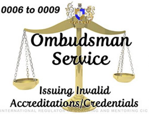 Ombudsman Service 0006 to 0009 – UPHELD – part 1: 2 – Issuing Invalid Accreditations/Credentials